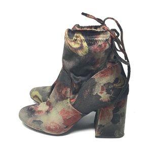 A New Day Velvet Chunky Heel Boots